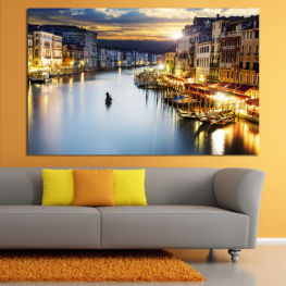 Water, City, Waterfront » Orange, Beige, Dark grey