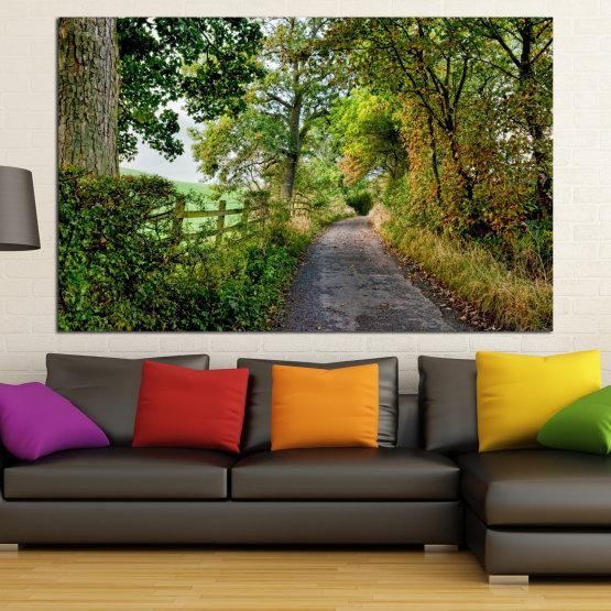 Декоративни панели и картини от канава - от 1 част №0854 » Зелен, Кафяв » Гора, Дърво, Парк Form #1