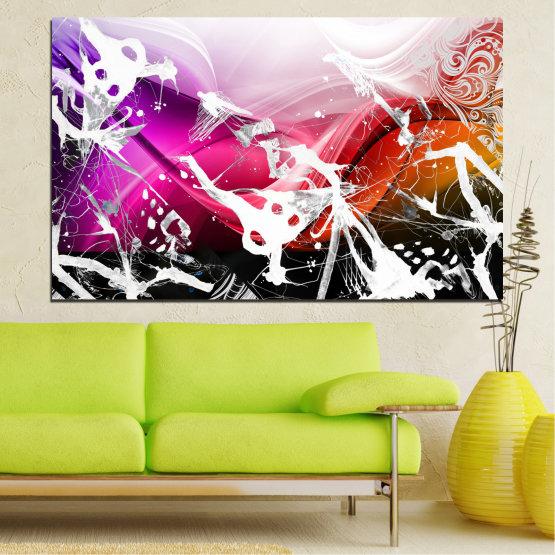 Декоративни панели и картини от канава - от 1 част №0348 » Розов, Черен, Сив, Бял » Абстракция, Рисунка, Изкуство Form #1