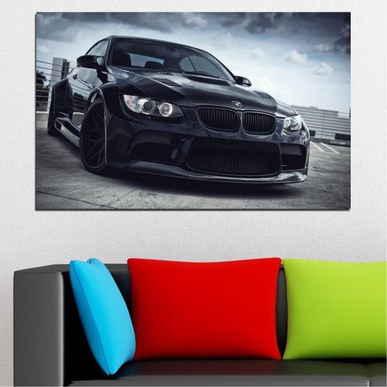 Декоративни панели и картини от канава - от 1 част №0395 » Черен, Сив, Тъмно сив » Bmw, Кола, Автомобил, Спорт Form #1