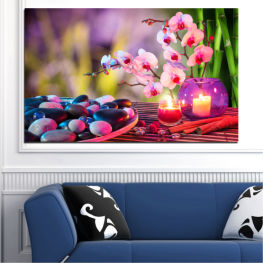 Feng shui, Orchid, Stones, Zen, Spa, Candle » Brown, Black, Gray, Milky pink, Dark grey