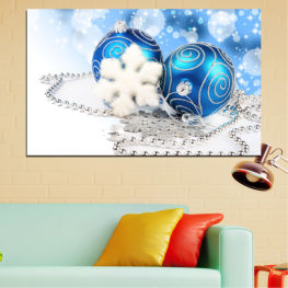 Decoration, Christmas, Holiday » Turquoise, Gray, White