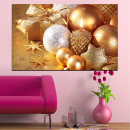 Decoration, Christmas, Holiday » Green, Orange, Brown, Beige