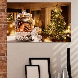 Decoration, Christmas, Holiday » Orange, Brown, Black, Beige