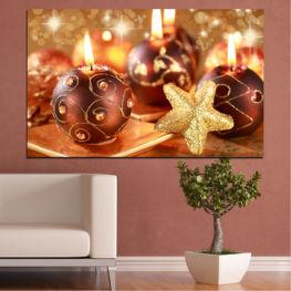Свещ, Коледа, Празник » Червен, Оранжев, Кафяв, Бежов