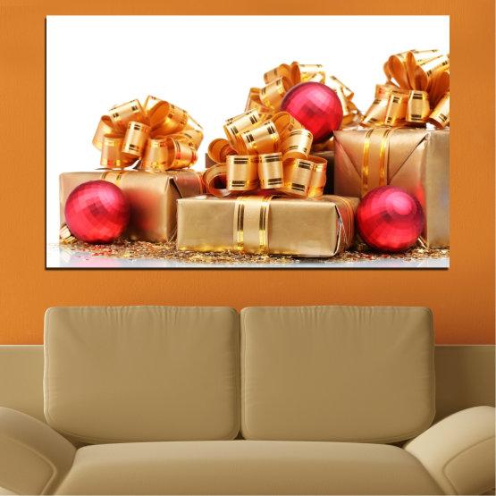 Декоративни панели и картини от канава - от 1 част №0433 » Червен, Оранжев, Кафяв, Бял, Бежов » Украса, Подарък, Коледа, Празник Form #1