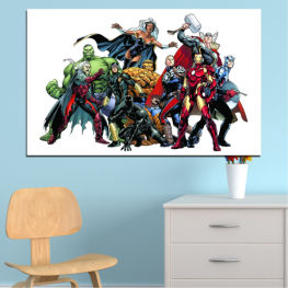 Children, Marvel, Avangers, Cartoon » Red, Black, Gray, White, Dark grey