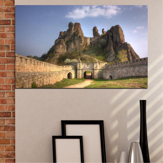 Canvas prints & wall decorative panels - 1 piece №0461 » Brown, Gray, Dark grey » Landscape, Bulgaria, Landmark, Belogradchik Form #1