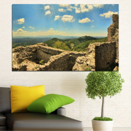 Landscape, Bulgaria, Perperikon, Landmark » Turquoise, Brown, Gray, Beige, Dark grey