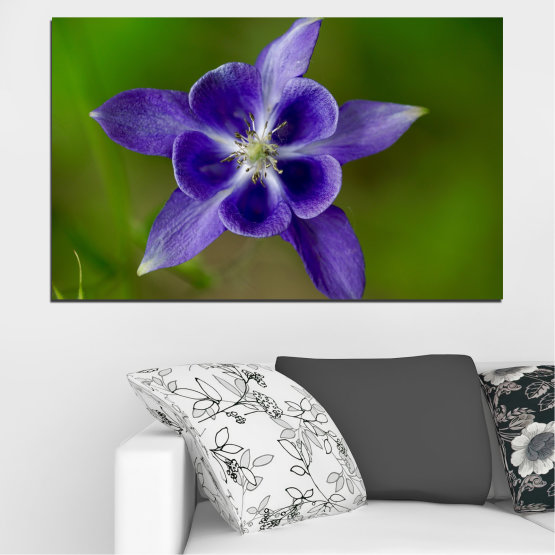 Canvas prints & wall decorative panels - 1 piece №0505 » Purple, Blue, Green, Gray » Flowers, Nature, Garden Form #1