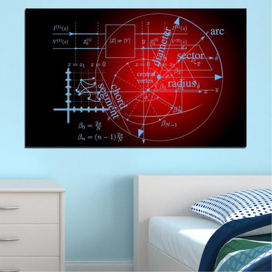 Декоративни панели и картини от канава - от 1 част №0594 » Червен, Черен, Сив » Абстракция, Математика, Сфера, Кръг Form #1