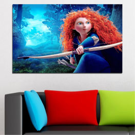 Children, Animated, Brave, Disney » Blue, Turquoise, Black, Dark grey