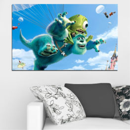 Children, Animated, Monsters, inc » Blue, Turquoise, Gray, White, Dark grey