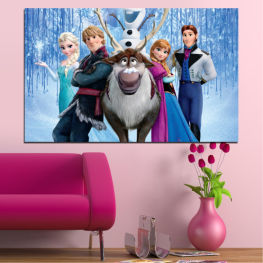 Children, Frozen kingdom, Animated, Disney » Turquoise, Black, Gray, Dark grey