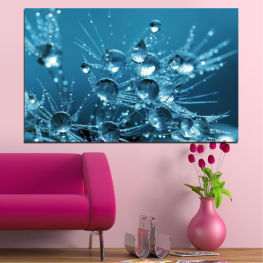 Water, Abstraction, Drops » Blue, Turquoise, Dark grey