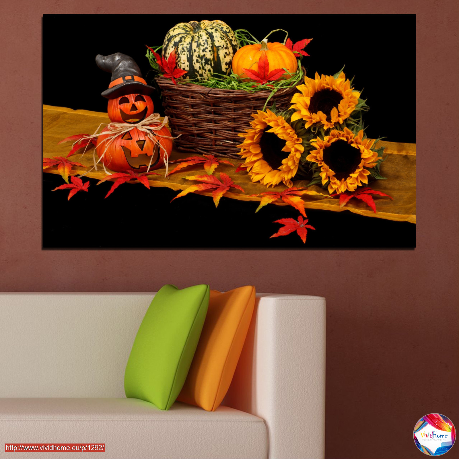 drawing, culinary, sunflower, autumn, halloween №0632