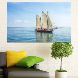 Sea, Water, Ship, Vehicle, Boat » Turquoise, Gray, White