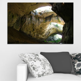 Devetashka cave, Bulgaria, Cave » Brown, Black, Gray, Dark grey