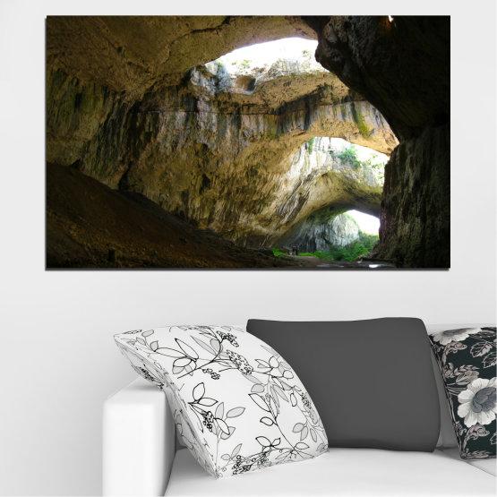 Декоративни панели и картини от канава - от 1 част №0663 » Кафяв, Черен, Сив, Тъмно сив » Деветашка пещера, България, Пещера Form #1