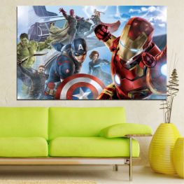 Children, Avangers, Heroes, Cartoon » Brown, Gray, Dark grey
