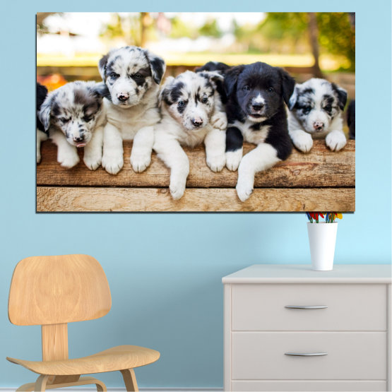 Canvas prints & wall decorative panels - 1 piece №0690 » Brown, Gray, White, Beige » Animal, Dog, Portrait Form #1
