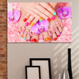 Orchid, Fashion, Nail » Pink, Orange, White, Beige, Milky pink