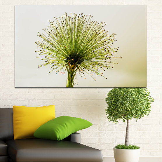 Canvas prints & wall decorative panels - 1 piece №0710 » Green, White, Beige » Flower, Spring, Plant, Herb Form #1