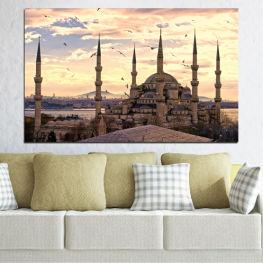 Σουλτάνος αχμέντ, Κωνσταντινούπολη, Τζαμί σουλτάνου αχμέτ, Ισλάμ » Πορτοκάλι, Γκρί, Μπεζ, Σκούρο γκρι