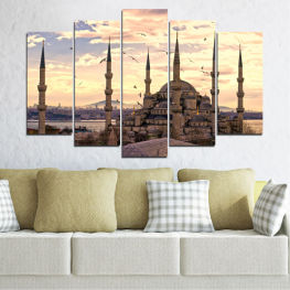 Sultan ahmed, Istanbul, Sultan ahmed mosque, Islam » Orange, Gray, Beige, Dark grey