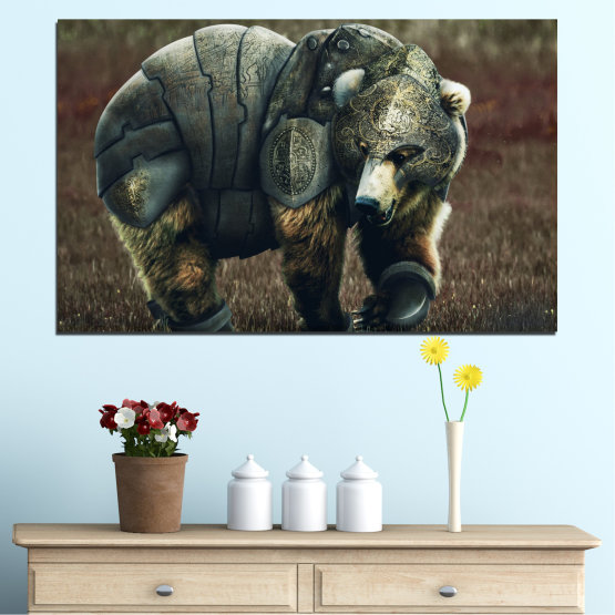 Canvas prints & wall decorative panels - 1 piece №0720 » Brown, Black, Gray, Dark grey » Animal, Wildlife, Outdoors Form #1