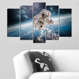 Art, Space, Sky, Man » Black, Gray, Dark grey