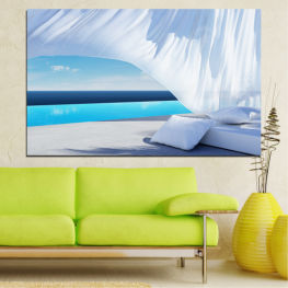 Water, Sun, Sky, Summer, Modern, Holiday, Sunny » Turquoise, Gray, White