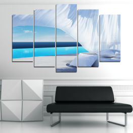 Sun, Water, Summer, Sky, Modern, Holiday, Sunny » Turquoise, Gray, White