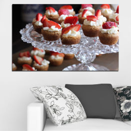 Fresh, Pastry, Cooking, Food, Breakfast, Delicious, Dessert, Fruit, Strawberry, Cake, Bakery, Sweet » Red, Brown, Black, Gray, Dark grey