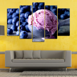 Colorful, Fresh, Natural, Dessert, Fruit, Tasty, Food, Sweet » Pink, Blue, Black, Gray, Dark grey