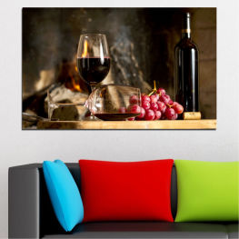 Still life, Wine, Drink, Elegant, Red wine, Winery, Alcohol, Wineglass, Bottle, Table » Red, Brown, Black, Beige, Dark grey