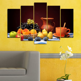 Freshness, Healthy, Food, Fruit, Delicious, Kitchen » Red, Yellow, Orange, Black, White