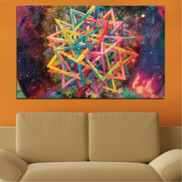 Abstraction, Decoration, Modern, Colorful, Design, Shape » Pink, Purple, Turquoise, Yellow, Brown, Black, Gray, Dark grey