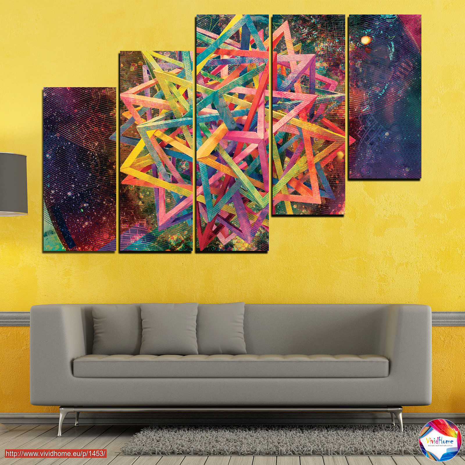 Abstraction, Decoration, Colorful, Modern, Design, Shape №0744