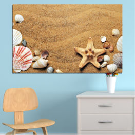 Sea, Beach, Summer, Star, Sand, Tropical, Stone, Starfish, Shell » Green, Orange, Brown, Gray, Beige