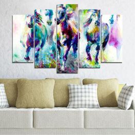 Τέχνη, Χρώμα, Κίνηση » Ροζ, Μωβ, Τουρκουάζ, Πράσινος, Κίτρινος, Γκρί, Άσπρο, Σκούρο γκρι
