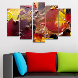 Forest, Autumn, Leaf, Leaves » Red, Yellow, Brown, Black, Dark grey