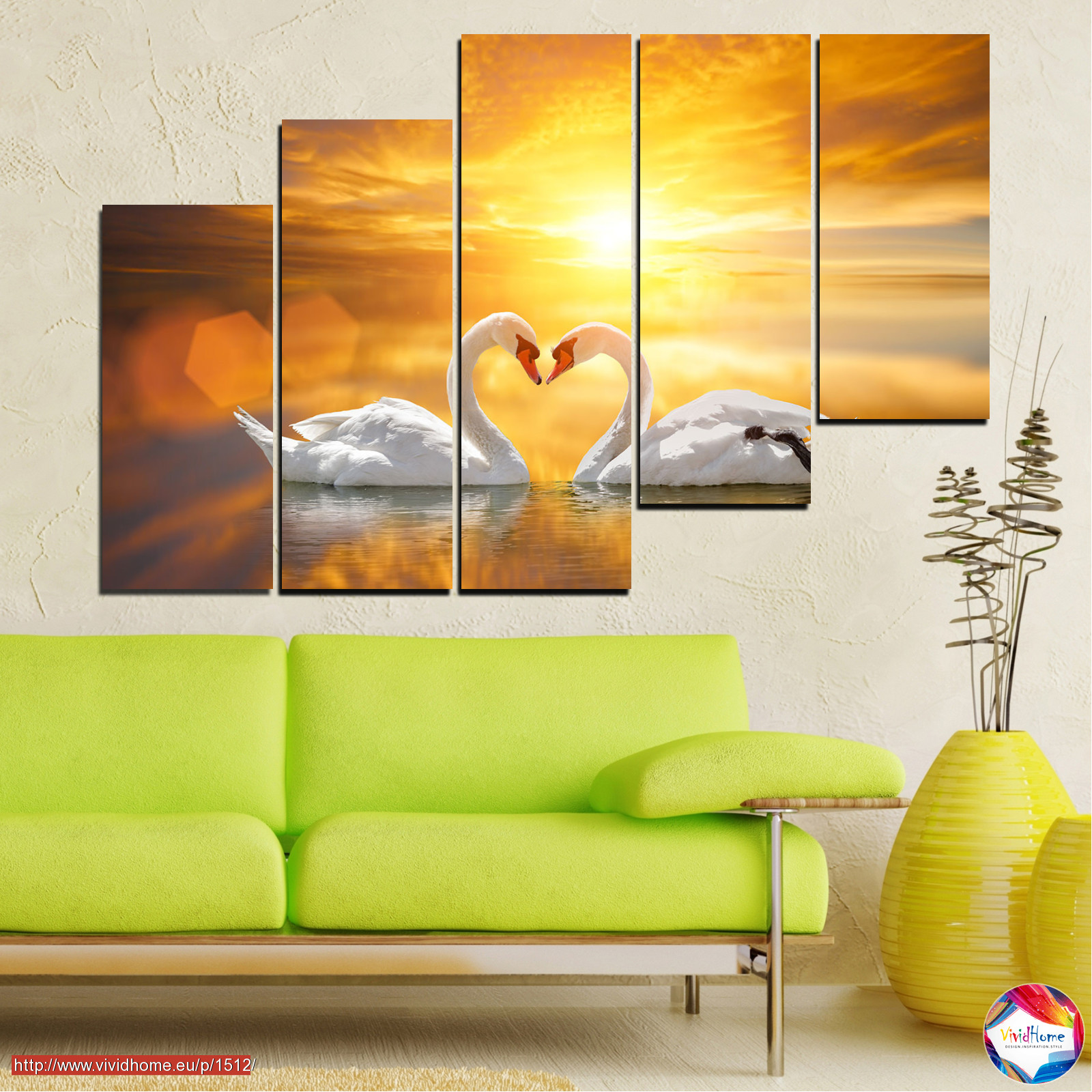 Sea, Water, Sunset, Ocean, Reflection, Swan, Light, Love №0773