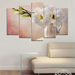 Flower, Decoration, Spring, Bouquet, Blossom, Vase, Petals » Orange, Brown, Gray, Beige, Milky pink