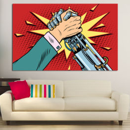 Art, Graphic, Design, Comic book, Hand » Red, Yellow, Black, Gray, Beige