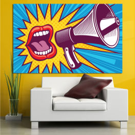 Art, Modern, Graphic, Cartoon, Design, Poster » Red, Blue, Turquoise, Yellow, White, Dark grey
