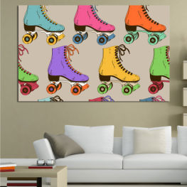 Drawing, Graphic, Color, Cartoon, Design, Colors, Creative, Decor, Collection, Pattern, Set » Pink, Purple, Green, Yellow, Brown, Gray