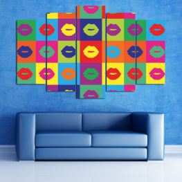Decoration, Art, Modern, Graphic, Color, Design, Graphics, Pattern, Set » Pink, Purple, Turquoise, Yellow, Orange, Gray