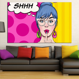 Fashion, Graphic, Cartoon, Design, Face, Cartoon people, Comics » Pink, Yellow, Black, White, Beige