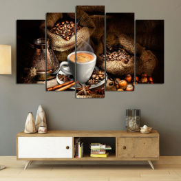 Coffee, Drink, Black, Morning, Breakfast, Hot, Cup, Sugar, Cappuccino, Espresso, Caffeine » Brown, Black, Beige, Dark grey